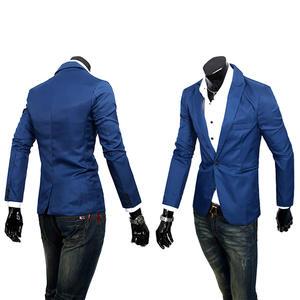 Casual Blazer Formal Costume Leisure-Suit Slim-Fit Korean-Fashion Luxury New Masculino