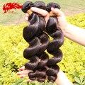 Birmanês virgem onda solta 3 pcs lote feixes de cabelo humano, 6A não transformados cor natural preto virgem birmanês cabelo encaracolado solto