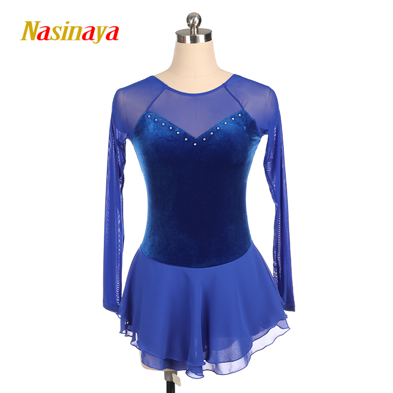 Nasinaya Figure Skating Dress Customized Competition Ice Skating Skirt for Girl Women Kids Patinaje Gymnastics Performance 315