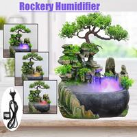 Indoor Simulation Resin Rockery Waterfall Statue Waterfall Desktop Fountain Geomantic Meditation Feng Shui Home Humidifier Decor