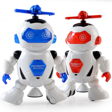 цена на 2019 Rotating Smart Space Dance Robot Electronic Walking Toys With Music Light For Kids Astronaut Toy Christmas Birthday Gift