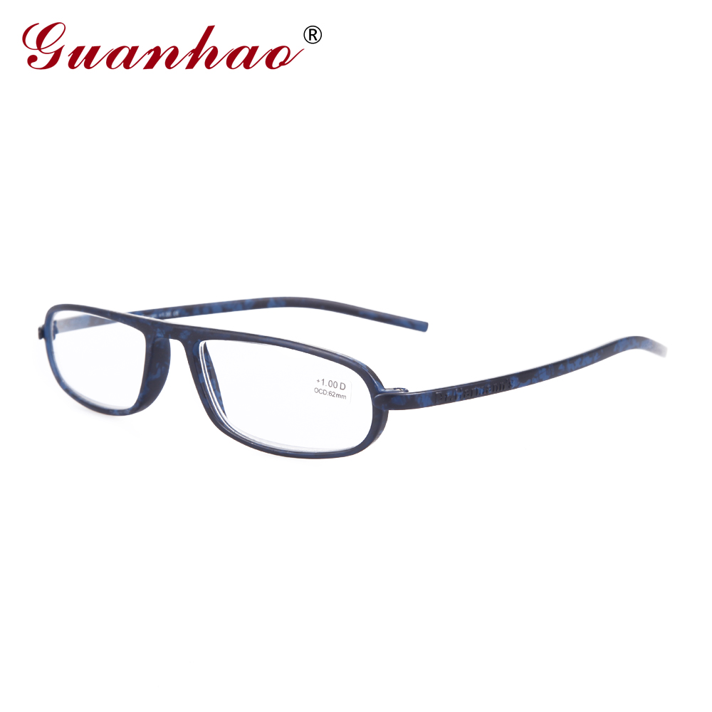 GuanHao Designer Unbreakable Reading Glasses Presbyopia Men Women TR90 Frame Light Reading Glasses 1.0 1.5 2.0 2.5 3.0 3.5