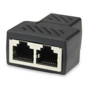 Image 3 - Adaptateur séparateur RJ45 double Port femelle, adaptateur Ethernet CAT5/CAT 6 LAN, pour prise réseau, réseau