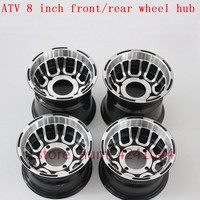 ATV accessories front and rear wheel hub 8 inch go kart off road 4 wheel aluminum rims for 19 /20 /21x7.00 8 18 /20x9.50 8 tyre