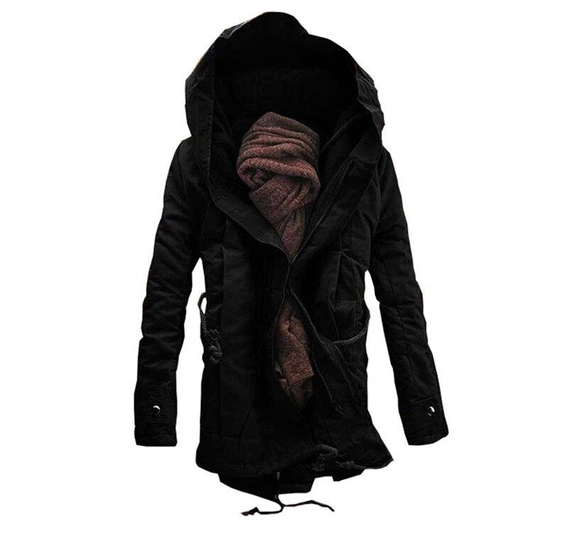 2018 г. Лидер продаж для мужчин длинные теплая куртка мужская мода с капюшоном зимняя одежда M-6XL