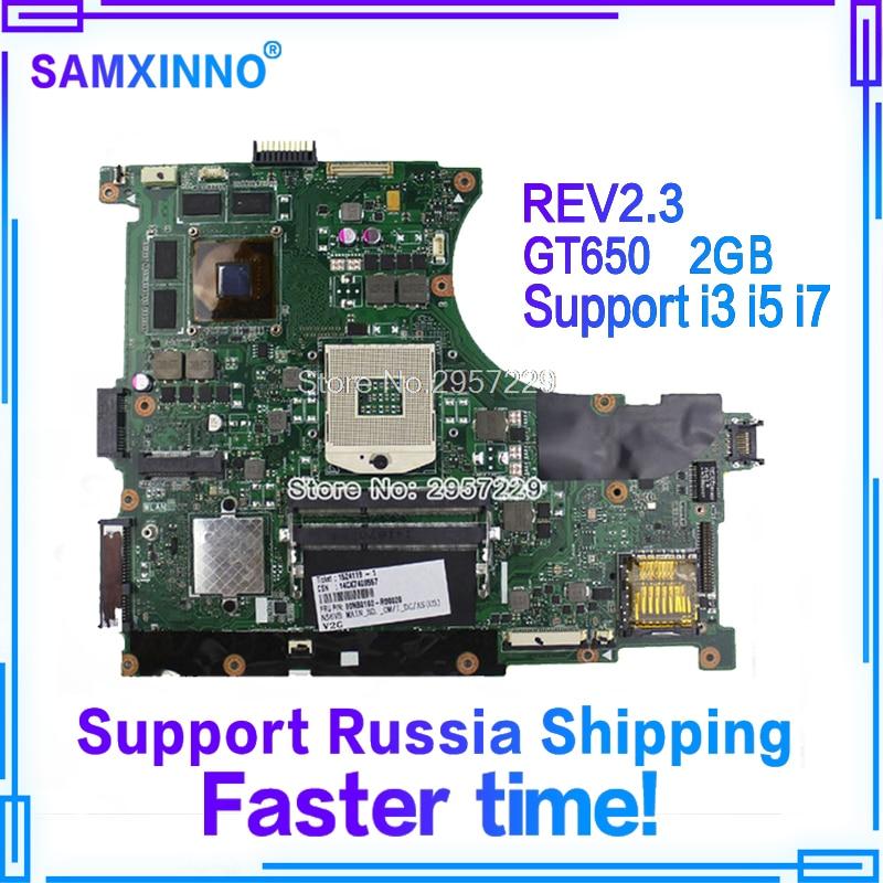 Original N56VZ Laptop Motherboard for Asus REV2.3 Mainboard GT650 2G PGA 989 HM76 Fit N56V N56VM N56VJ N56VB N56VV tested wellOriginal N56VZ Laptop Motherboard for Asus REV2.3 Mainboard GT650 2G PGA 989 HM76 Fit N56V N56VM N56VJ N56VB N56VV tested well