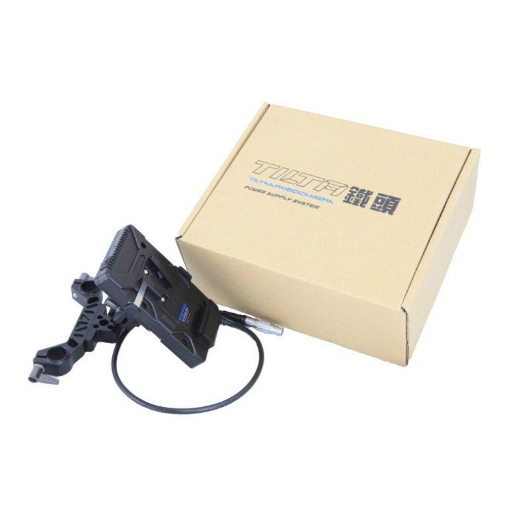 Pour rouge écarlate/Epic Tilta V mount v-lock/Anton mount système d'alimentation de plaque de batterie avec adaptateur de tige de 15mm