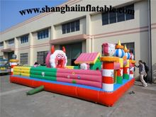 2016Inflatable Amusement Park and Fun City with Slide outdoor popular themed
