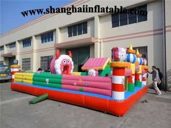 цена на Inflatable Playground Funny Inflatable Fun City Giant Inflatable Bouncy Castle With Obstacle
