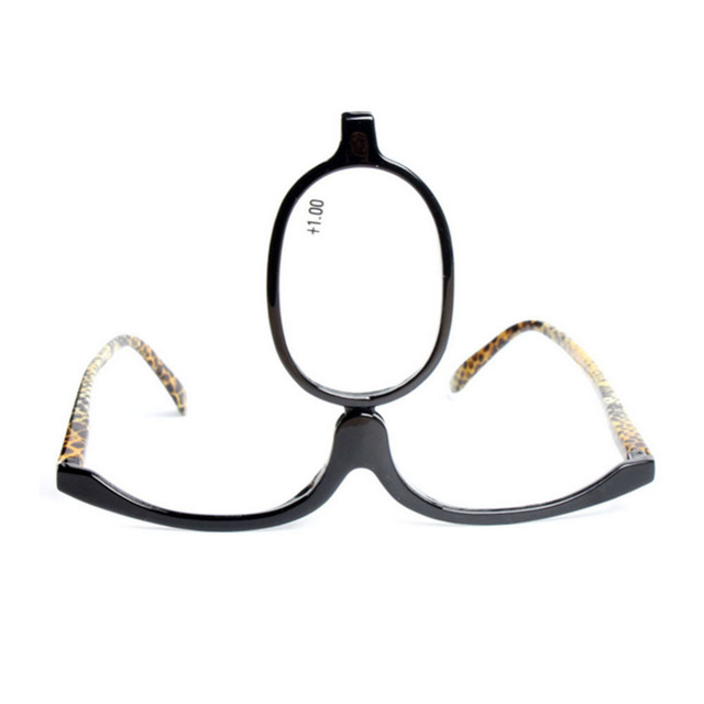 84242c78d69 Readers Magnifying Makeup Glasses Eye Make Up Spectacles Flip Down Lens  Folding Cosmetic Womens Reading Glasses +1.0 to +4.0
