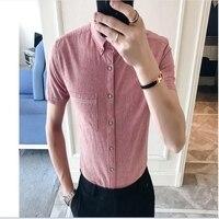 2018 New Men S Short Sleeved Shirts In Summer Striped Men S Shirts