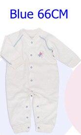 Комбинезоны для маленьких мальчиков и девочек, коллекция года, Одежда для новорожденных и малышей, детский хлопковый комбинезон с длинными рукавами, Красивый хлопковый комбинезон унисекс - Цвет: 66CM BLUE