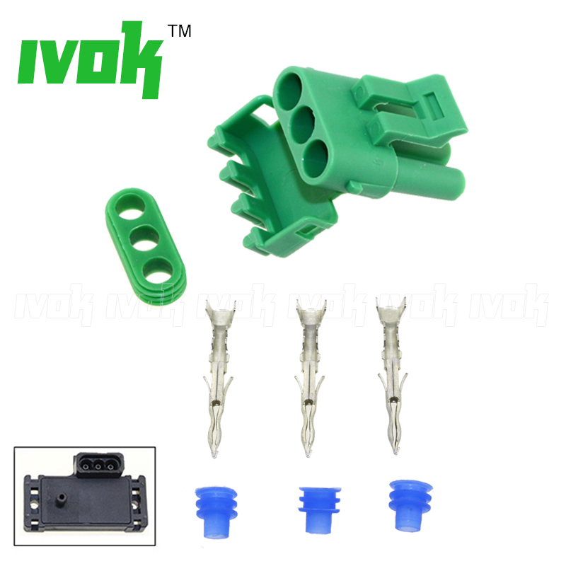 Electrical Connector Socket Female Plug Parts With Plugs Pins 1Bar 2Bar 3Bar 4Bar MAP Sensor Manifold Pressure Sensor