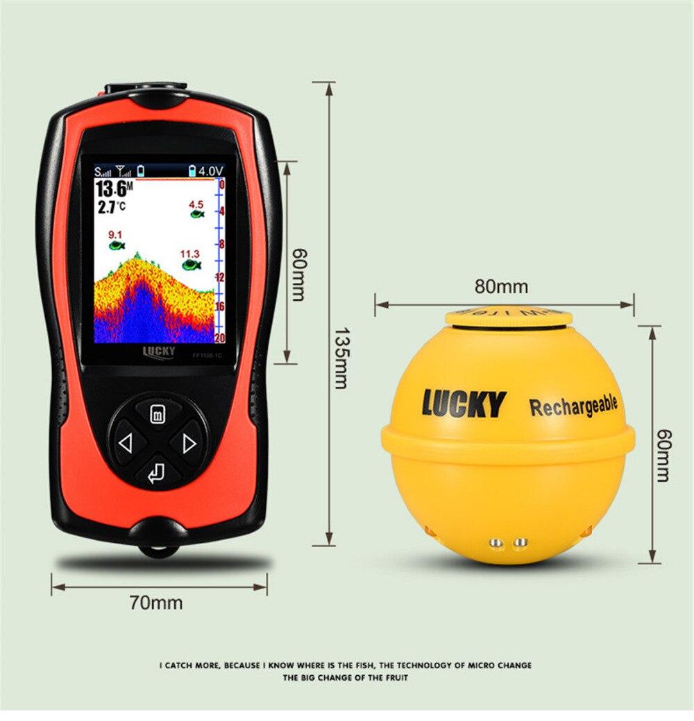 2019 nouveau FF1108-1CWLA chanceux sans fil Sonar détecteur de poisson transducteur glace/océan/bateau détecteur de poisson alarme détecteur de poisson Sonar capteur poisson - 2