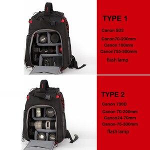 Image 3 - Jealiot SLR сумка для фотоаппарата рюкзак для фотоаппарата фоторюкзак чехол для линз сумки сумка для камеры Рюкзак DSLR цифровой 14 дюймов ноутбук фотография штатив дождевик объектив противоударный водонепроницаемый