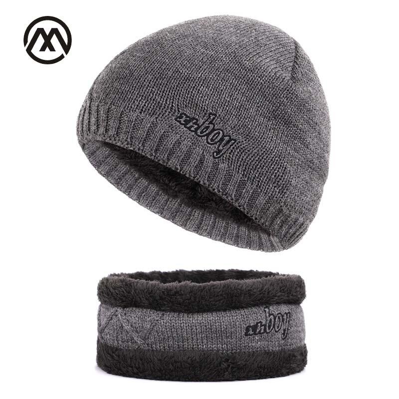 New men's knit plus velvet thick winter hats warm and comfortable adjustable unisex exquisite leather brand caps   skullies     beanie