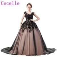 Czarna Suknia Balowa Gothic Prom Dresses V Neck Lace Up powrót 2018 Nowy Sleeeveless Księżniczka Kobiety Formalna Sukienek Prawdziwe zdjęcia