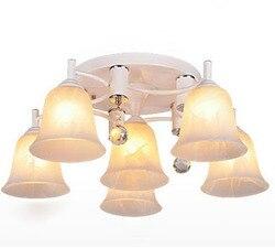 6 Heads Led glas lampen Kristallen lampen en lantaarns voor zitkamer verlichting lamp slaapkamer licht Gratis verzending