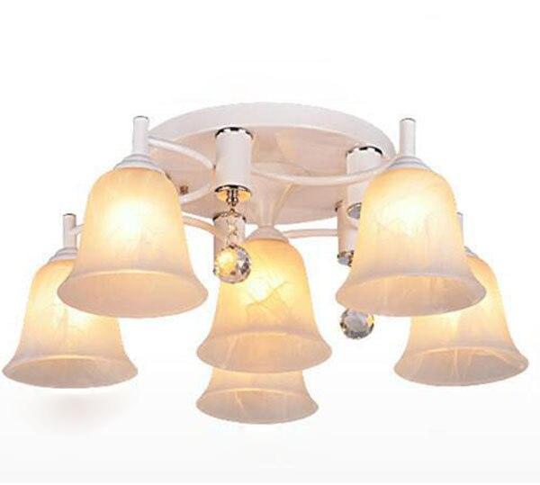 6 têtes Led lampes en verre lampes en cristal et lanternes pour salon éclairage lampe chambre lumière livraison gratuite