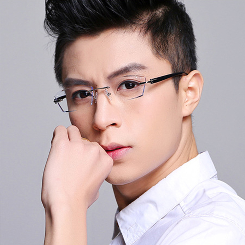 aliexpresscom buy good flexibility tr frame eyeglasses men colored clear lens glasses strength rimless prescription glasses myopia eye glasses 615 from