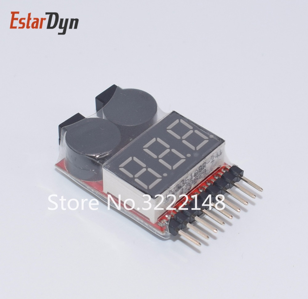 US $1 14 18% OFF|1 8S Lipo/Li ion/Fe RC helicopter airplane boat etc  Battery Voltage 2 IN1 Tester Low Voltage Buzzer Alarm-in Light Beads from  Lights