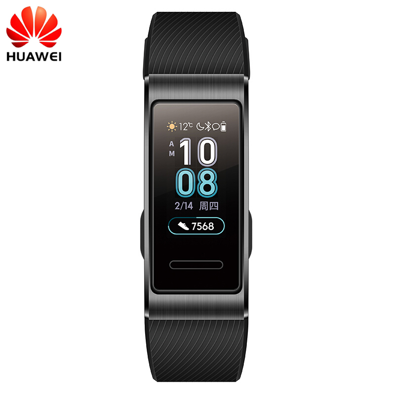 Original Huawei Band 3 Pro GPS Smart Band Metal Amoled 0.95' Full Color Touchscreen Swim Stroke Heart Rate Sensor Sleep Bracelet(China)