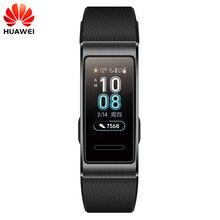 Originele Huawei Band 3 Pro GPS Smart Band Metalen Amoled 0.95 Full Color Touchscreen Zwemmen Beroerte Hartslag Sensor slaap Armband