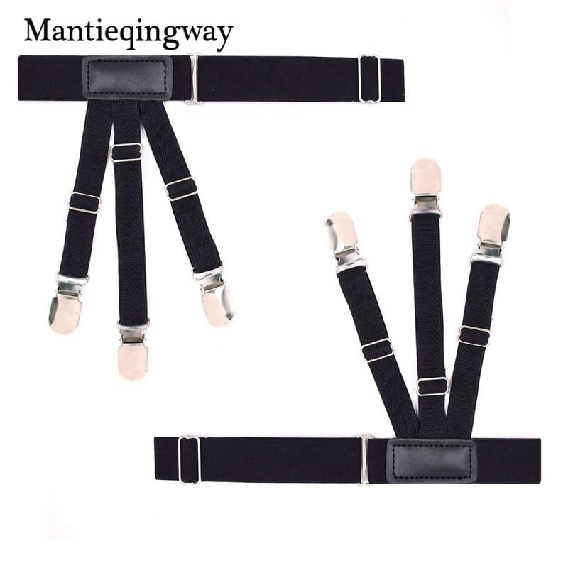 Mantieqingway Mens Shirts Holders Suspensorio for Shirt Stays Garters Suspender Braces For Shirts Gentleman Leg Elastic Belts