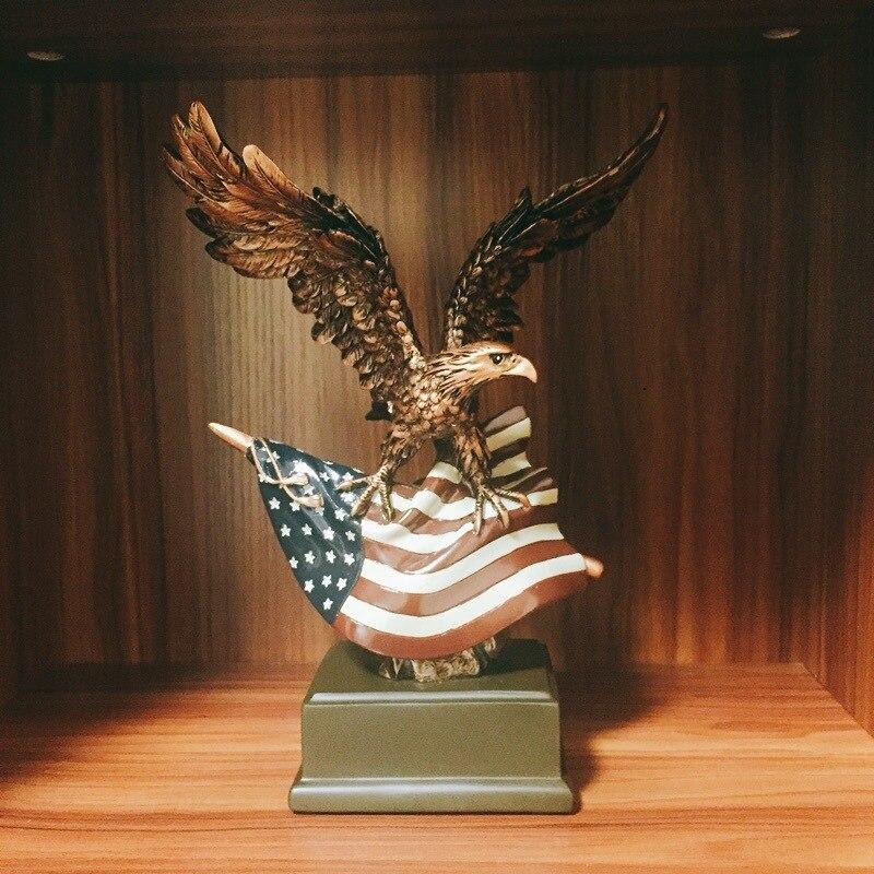 Resin Craft Eagle Home Office Desktop Wine Cabinet Decoration DIY