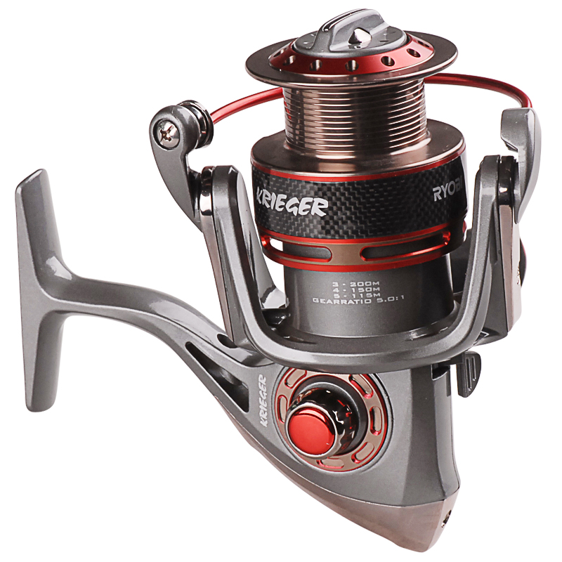 RYOBI Spinning Fishing Reel KRIGER 1000-4000 Series 5.1:1 7BB Carretilha Pesca For Carp Sea Fishing Tackle Reels Moulinet Peche ryobi 1000 2000 3000 4000 spinning reel bait casting reel 7 bearings