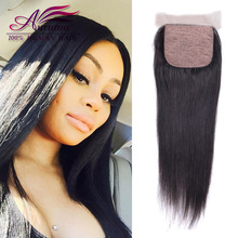 8A Grade Brazilian Virgin Hair Silk Base Closure Straight 4*4 Free Middle 3 Part Silk Base Closure With Baby Hair