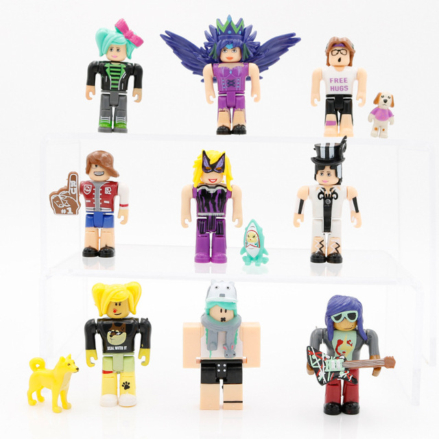 2018 7/7.5cm Cartoon PVC Roblox Characters with Weapons ...