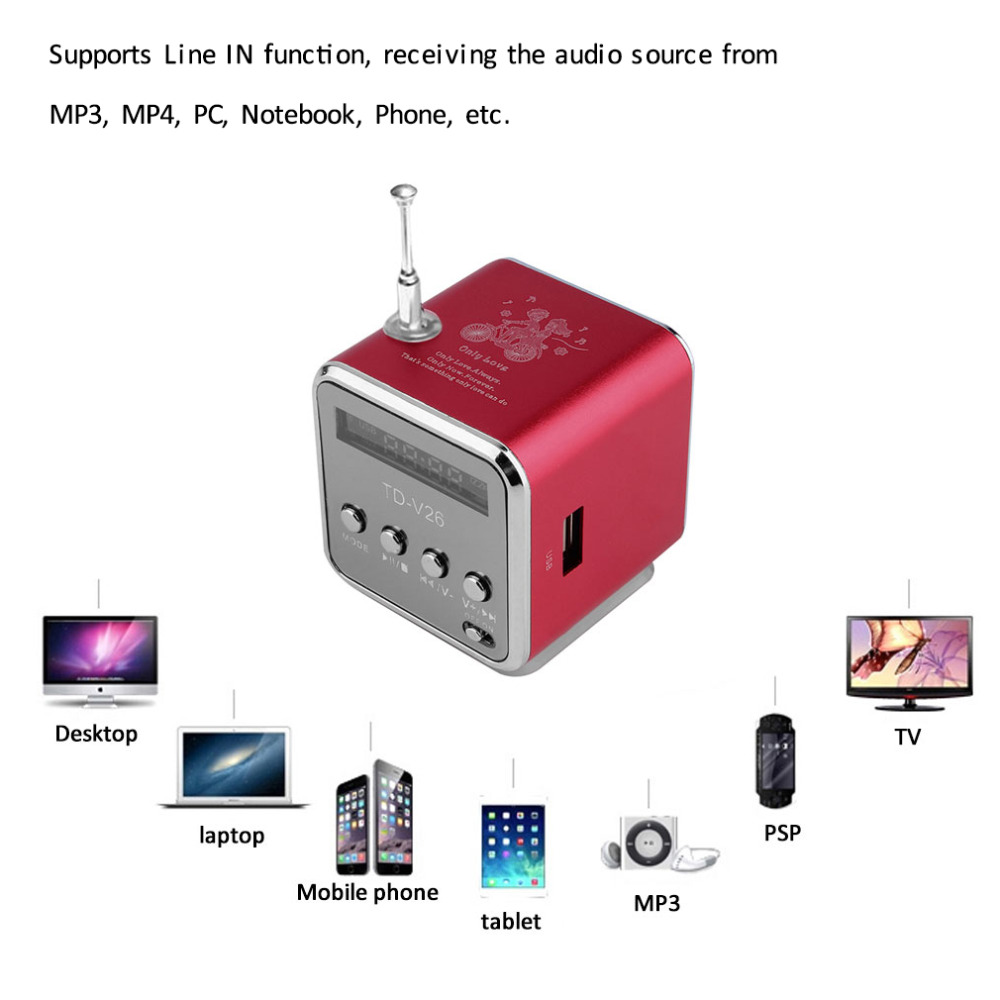 Onleny Portable Wireless Speakers Micro USB Mini Stereo Super Bass Speaker Ubwoofer Music MP3 MP4 FM Radio Receiver soundbar panasonic rf p50eg9 s radio fm stereo portable radio receiver music play speaker full band