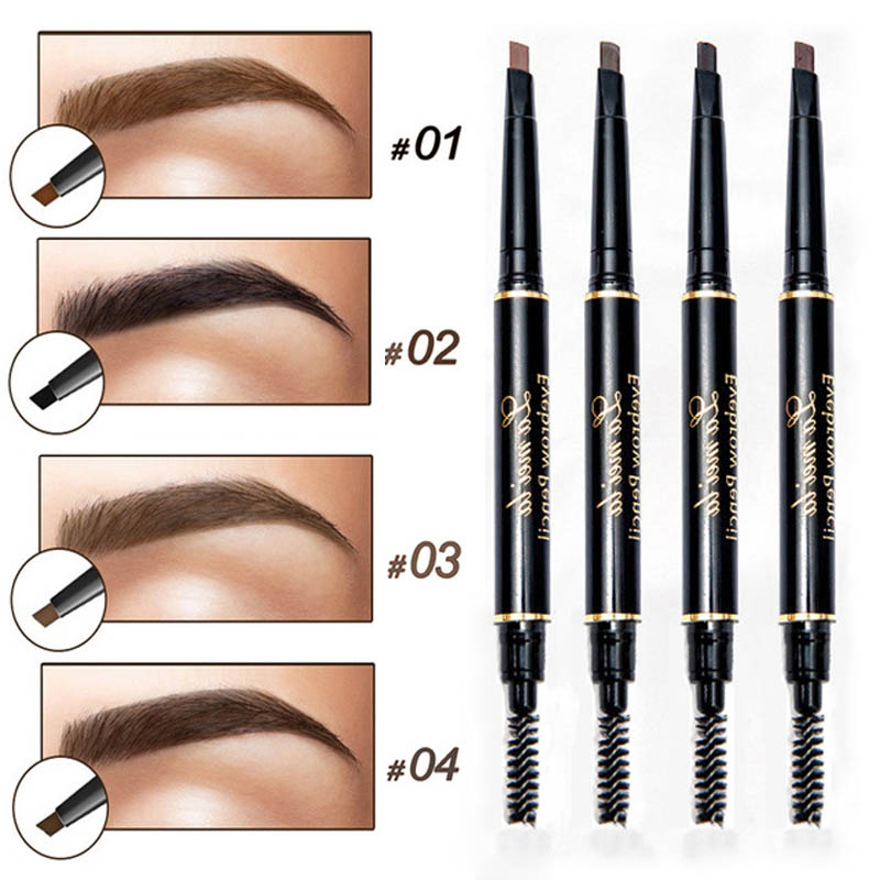 Enhancer Eyebrow Pencil Waterproof Shadow Eyebrow Tattoo Pen & Brush Cosmetics Long Lasting Tint Henna Eye Brow Pen Makeup Tools