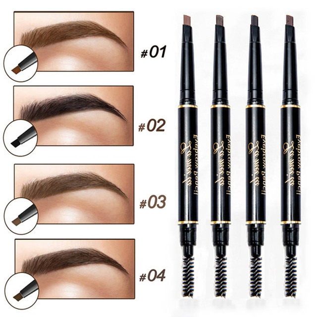 Enhancer Eyebrow Pencil Waterproof Shadow Eyebrow Tattoo Pen & Brush Cosmetics Long Lasting Tint Henna Eye Brow Pen Makeup Tools