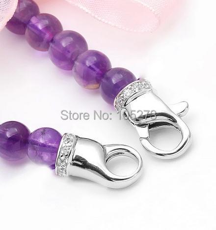 Chaîne Zirconium le fermoir en argent, collier bricolage en cristal de perle naturelle de haute qualité, fermoir bracelet.-L70 - 4