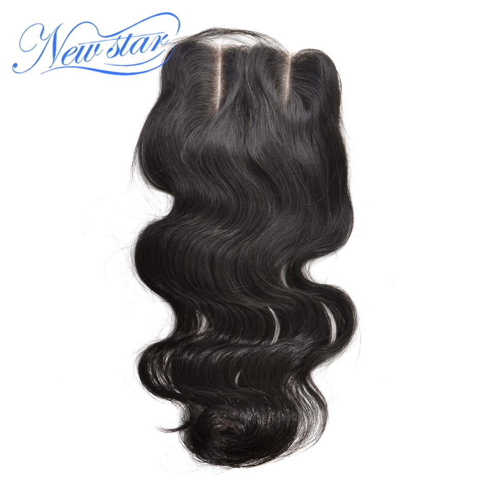 New Star Body Wave 3 Part 5x5 Lace Closures Brazilian Virgin Human Hair Medium Brown Swiss Lace With Baby Hair Free Shipping
