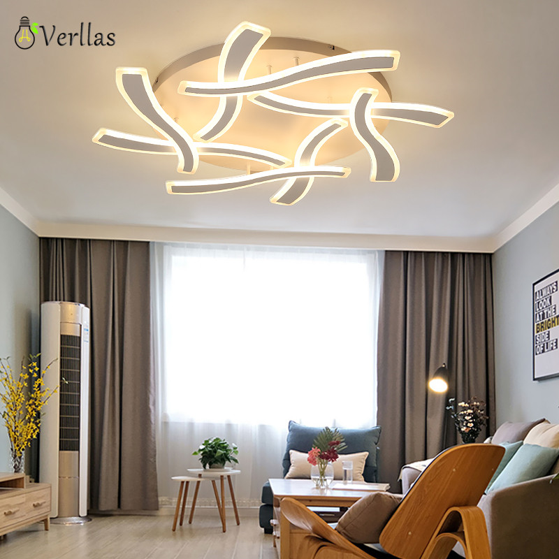Verllas Ceiling Lights Living room WIth remote control Dimming Light fixture home deco Lamparas de techo Modern LED Ceiling Lamp noosion modern led ceiling lamp for bedroom room black and white color with crystal plafon techo iluminacion lustre de plafond