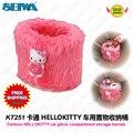Acessórios do carro dos desenhos animados hellokitty rosa de pelúcia luva de barris/trash KT251 frete grátis