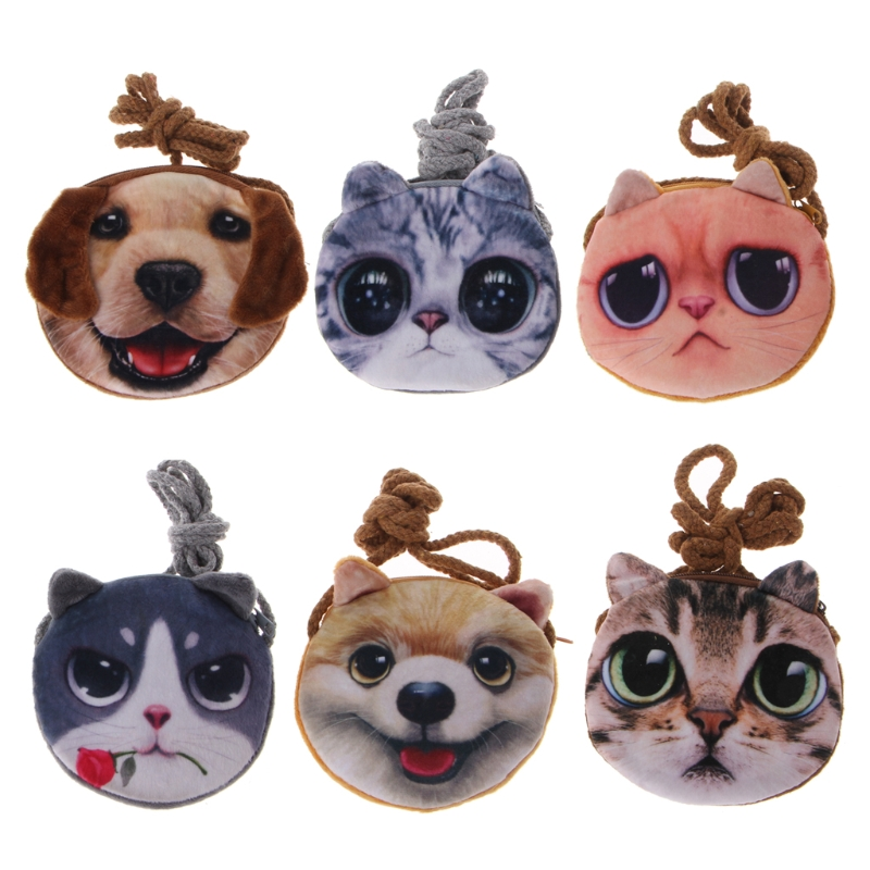 3D Animal Children Purses Girl Cute Small Cat Mini Messenger Bags Fashion Dog Shape Shoulder Bag Baby Kawaii Key Case Coin Pouch aelicy cute dog shape children shoulder bag fashion girl shoulder messenger bags baby pu leather ladies crossbody bags small