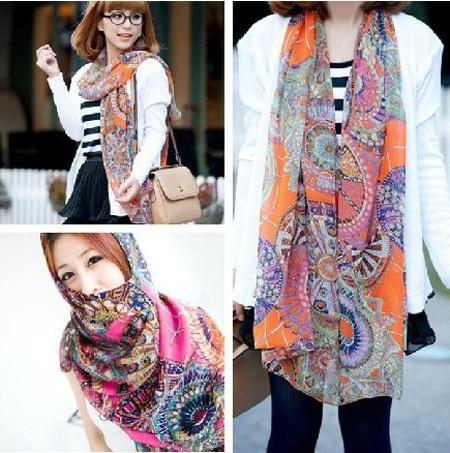 2014 Fashion style sun wheel scarf ladies' spring and autumn chiffon scarves shawl neckerchief