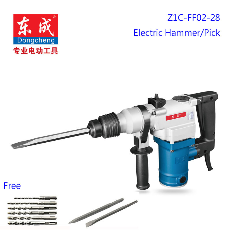 28mm Electric Hammer/Pick 960w Rotary Hammer 220-240v/50hz Light Electric Pick (Free 8pcs Drill Bit) hammer lzk850l