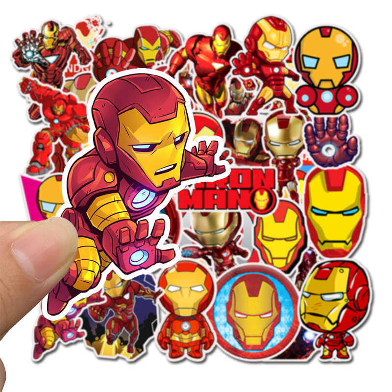 35PCS Avengers Endgame Super Heroes Iron Man Stickers Laptop Skateboard Suitcase Scrapbooking Sticker Toys For Kid Birthday Gift