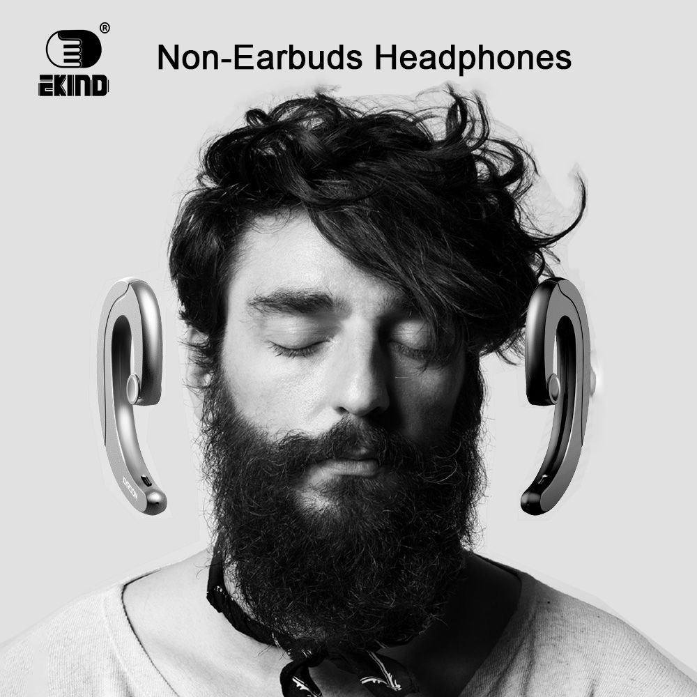 EKIND Headphones Sport Earphone Ear Hook Earbuds With Mic Headset Wireless MP3 Mini Stereo Sound for Bluetooth
