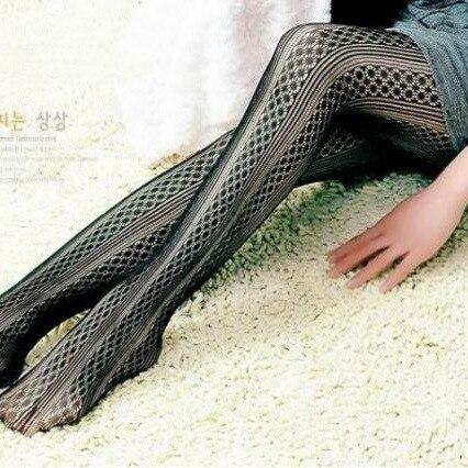 Fashion Womens Lady Girls Black Sexy Fishnet Pattern Jacquard Stockings Pantyhose Tights Styles Woman 1pcs dww19
