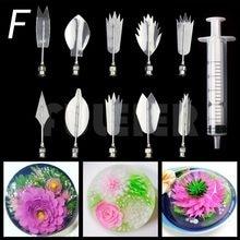 Chute de 10 types d'outils d'art de gélatine 3D, outils de fabrication de gâteau de fleur pour débutants. Buses de pâtisserie seringue de cuisine outils de pâtisserie