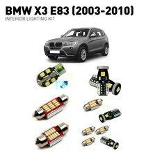 цена на Led interior lights For BMW x3 e83 2003-2010 14pc Led Lights For Cars lighting kit automotive bulbs Canbus Error Free