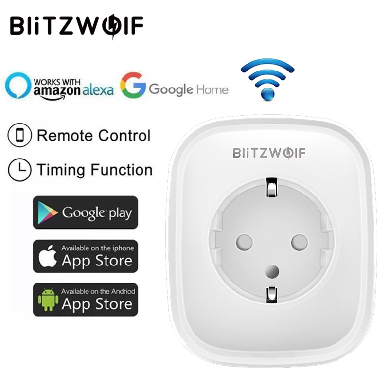 BlitzWolf BW-SHP5 WIFI Smart Socket EU 2.1A Dual USB Ports 16A Plug Work with Amazon Alexa Google Assistant BlitzWolf Tuya APPBlitzWolf BW-SHP5 WIFI Smart Socket EU 2.1A Dual USB Ports 16A Plug Work with Amazon Alexa Google Assistant BlitzWolf Tuya APP