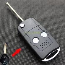 LinHui para JAC J3 J5 J6 Clave Shell 3 Botones Modificado Cáscara Dominante Alejada en blanco Sin Cortar la Lámina De Latón 1 UNID