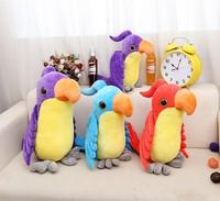 45cm Free Shipping Cute Parrot Plush Toys Children Boys Girls Dolls Birthday Gift